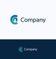C company logo vector image vector image
