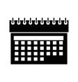 calendar date symbol vector image vector image