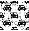 Car pattern grunge monochrome vector image