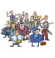 cartoon businessmen group vector image vector image