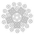 celtic mandala with knot ornament and clover 4 vector image