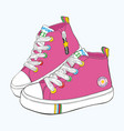 childrens sneakers set vector image