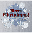 christmas greeting card with snowflakes and vector image vector image