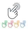 click icons with hand cursors design pointer vector image