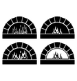clipart set of ovens vector image