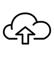 cloud with arrow up line icon data vector image vector image