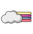 cloud with nature rainbow design in the sky vector image vector image