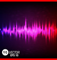color music equalizer design vector image vector image