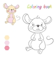 Coloring book mouse kids layout for game vector image