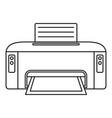 copier printer icon outline style vector image vector image