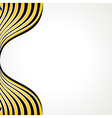 creative black and yellow strip vector image vector image