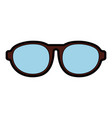 cute brown glasses cartoon vector image vector image