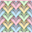 cutout paper seamless pattern vector image