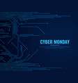 cyber monday circuit board technology traces vector image vector image