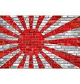 Flag of Japanese Navy on a brick wall vector image
