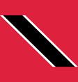 flag trinidad flat icon vector image vector image