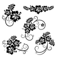 Flourish hibiscus decorative design elements vector image vector image
