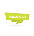 Follow us origami style badge sticker