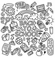 Funny pattern with school supplies and creative