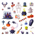 halloween symbols big set holiday party design vector image vector image