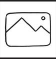 hand drawn photo symbol doodle icon vector image