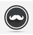Hipster mustache sign icon Barber symbol vector image vector image