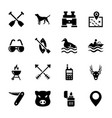 hunting elements icons vector image