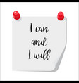 i can and i will note vector image