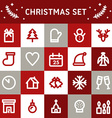Line Art Christmas and New Year Icon Set vector image vector image