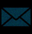 mail envelope composition icon of halftone circles vector image vector image