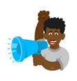 man keep megaphone vector image