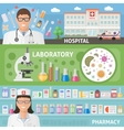 Medicine Horizontal Flat Banners Set vector image vector image