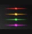 neon line set color shine beams glowing line set vector image vector image