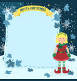 notes christmas elf blonde girl vector image vector image