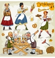 Oktoberfest - hand drawn collection - part 1 vector image vector image
