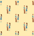 people happy love couple seamless pattern vector image