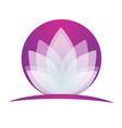 purple lotus icon logo vector image vector image
