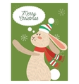 Rabbit cartoon of Christmas season design vector image