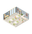 restaurant isometric cafe modern interior vector image
