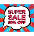 Sale poster with SUPER SALE 60 PERCENT OFF text vector image