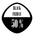 Sale sticker 50 percent off icon simple style vector image vector image