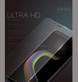 screen protector film or glass cover vector image