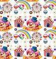 Seamless clown and circus rides vector image
