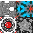 seamless geometric pattern set colorful vector image vector image