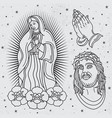 Seamless religious tattoo patterns