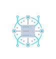 server hosting network icon vector image vector image