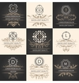 Set leaflets ornamental logos vector image vector image