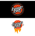 Set of Basketball hand written lettering logo vector image vector image
