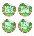 set of new year sale stickers vector image