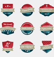 Set of vintage badges in retro style vector image vector image